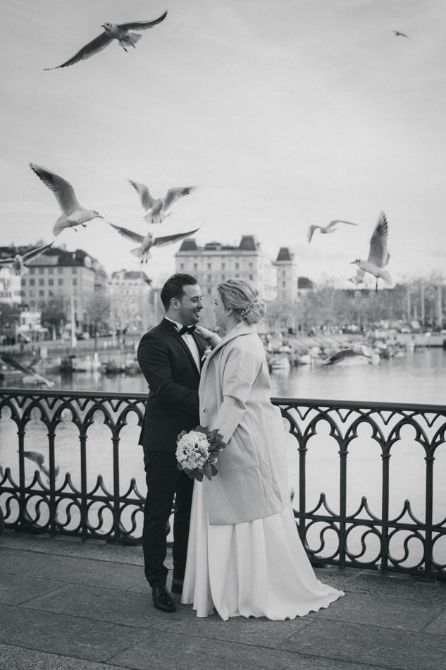 Hochzeit in Zürich in der Schweiz