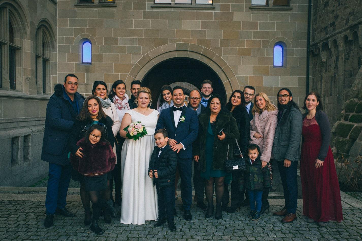 Hochzeitsgäste in Zürich