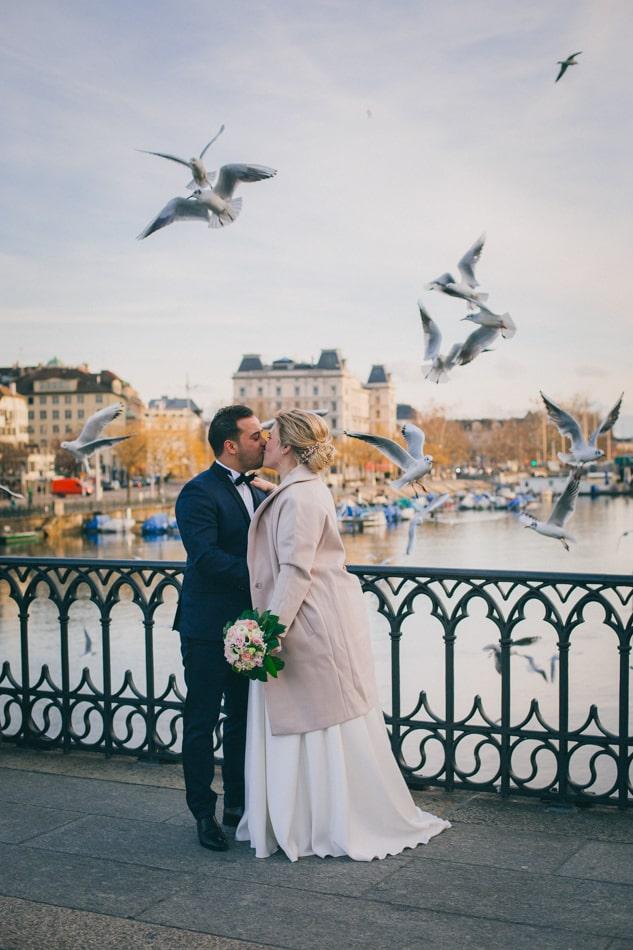Romantische Hochzeit in Zürich