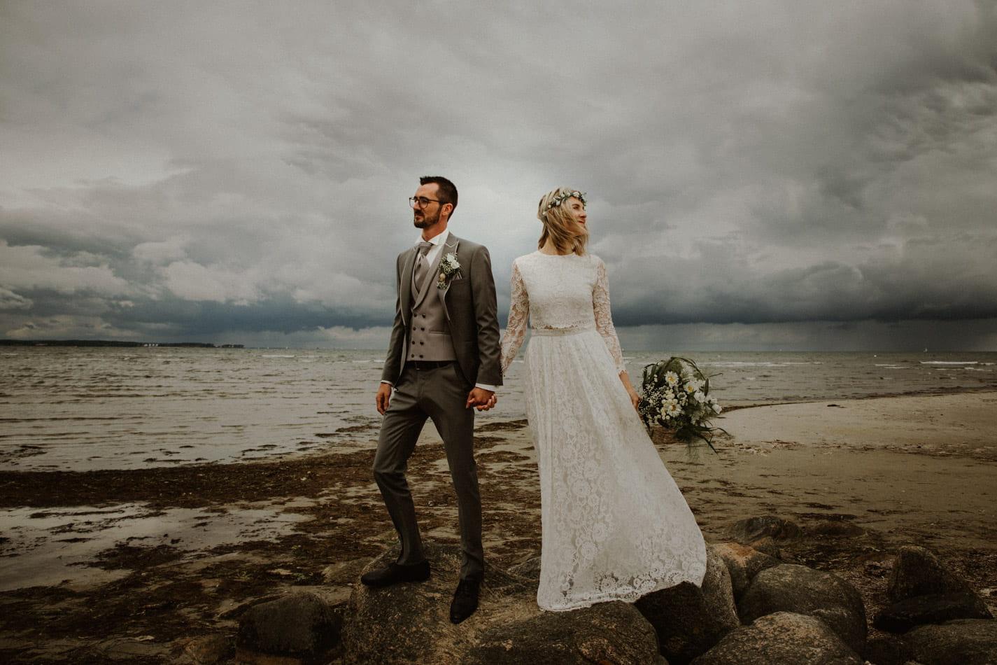 Strandhochzeit Stein – Hochzeitsfotografie