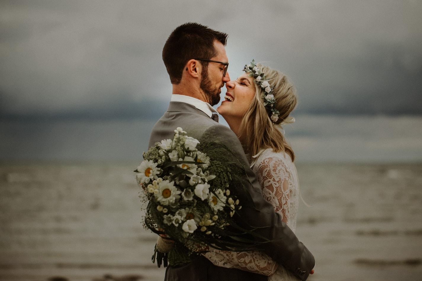 Hochzeit am Strand in Stein