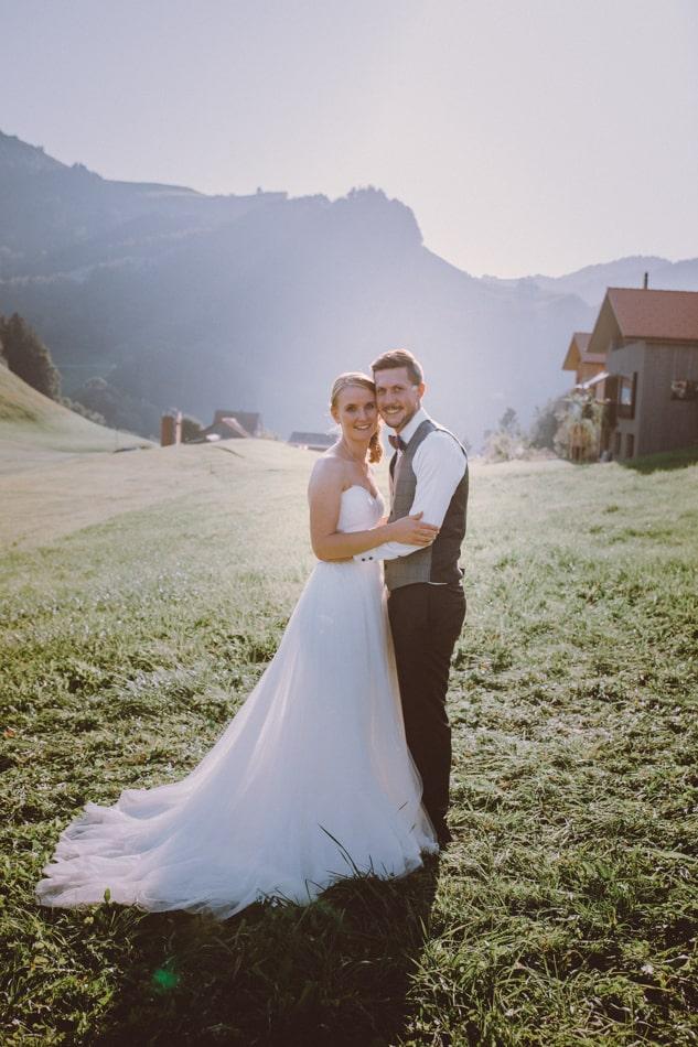 Braut und Bräutigam in Appenzell, Schweiz