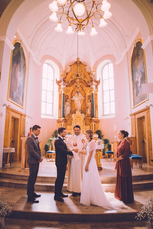 Hochzeit in Kirche St Josef Schlatt in Appenzell