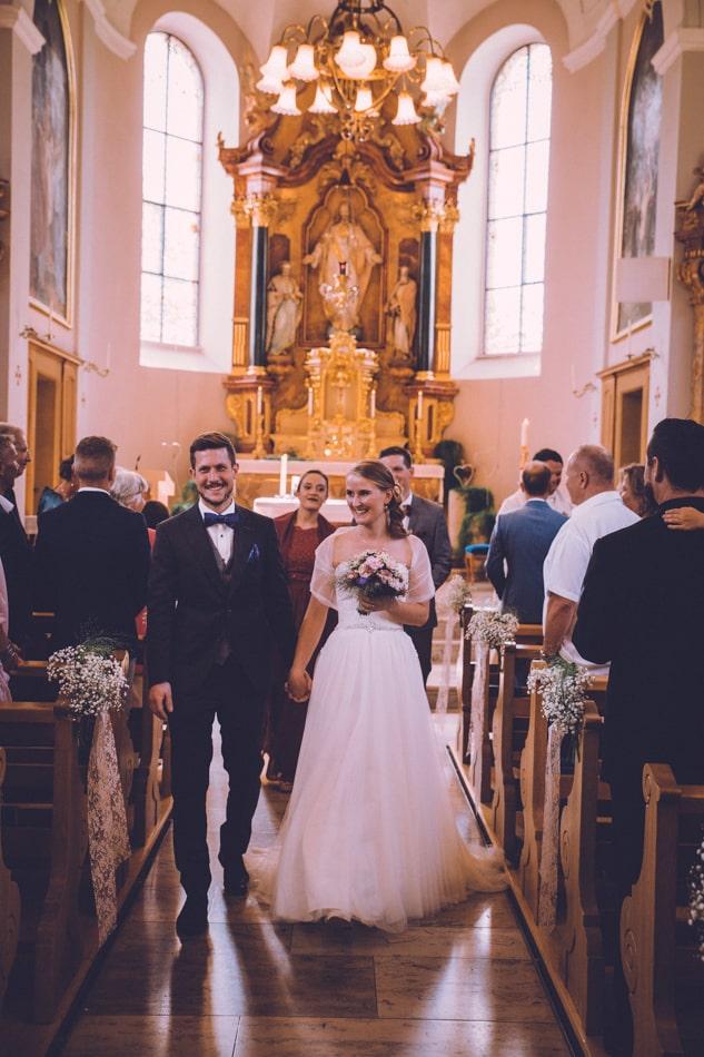 Hochzeit in der Kirche St Josef Schlatt in Appenzell, Schweiz