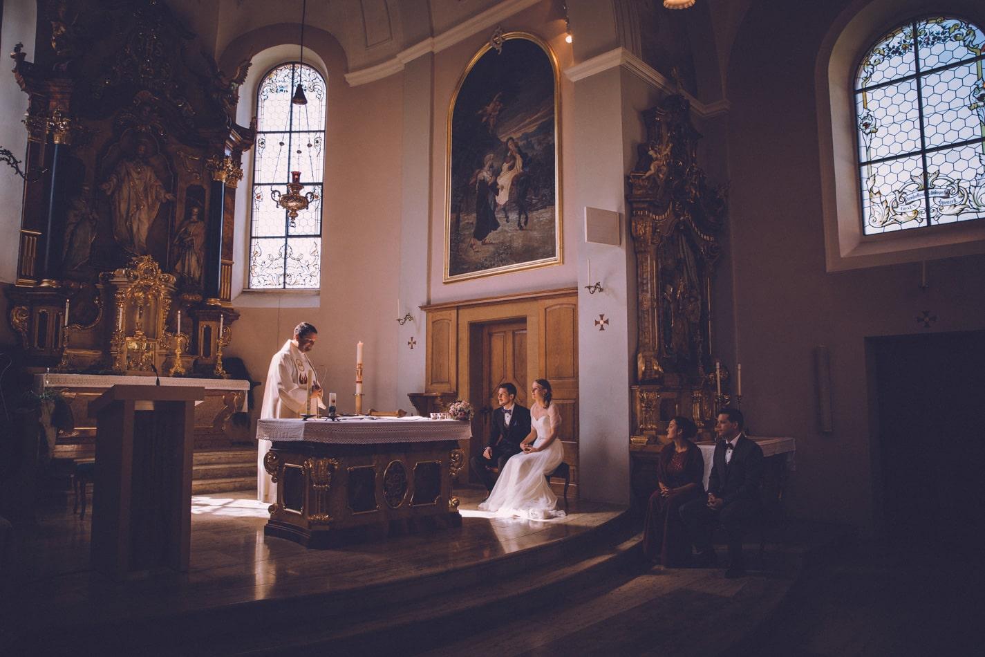 Hochzeit in der Kirche St Josef Schlatt
