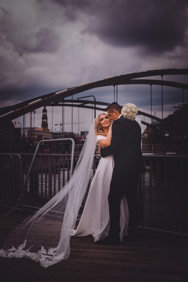 Romantische Hochzeitsfotoshooting in Hamburg