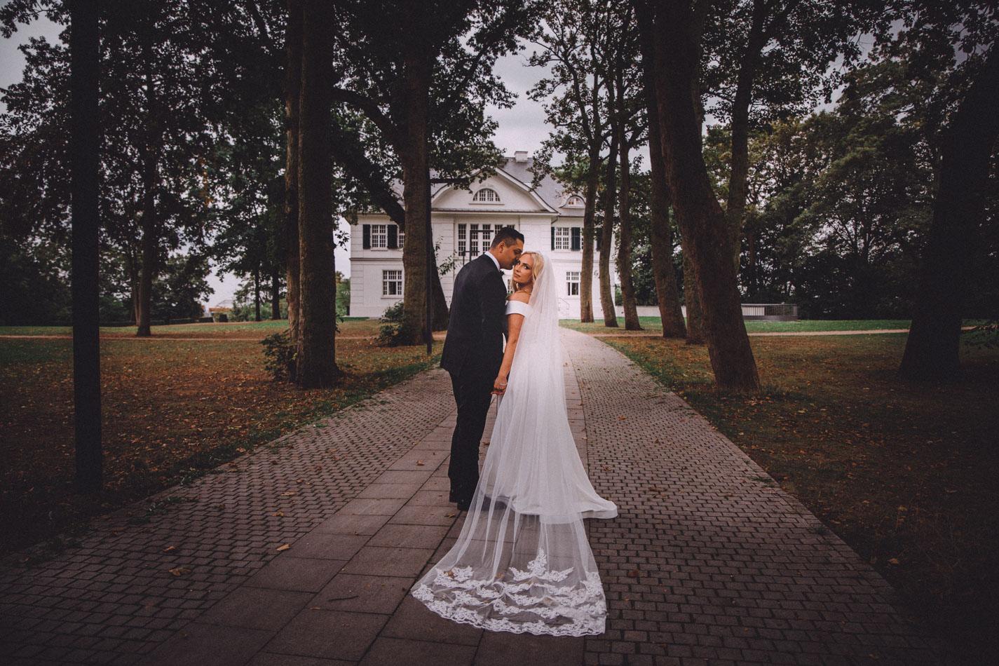 Villa im Heinepark Hochzeitsfotoshooting