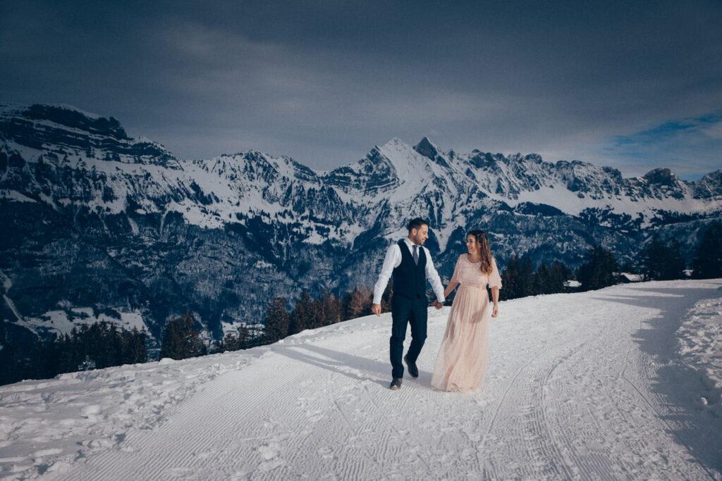 After Wedding Shooting in den Schweizer Alpen