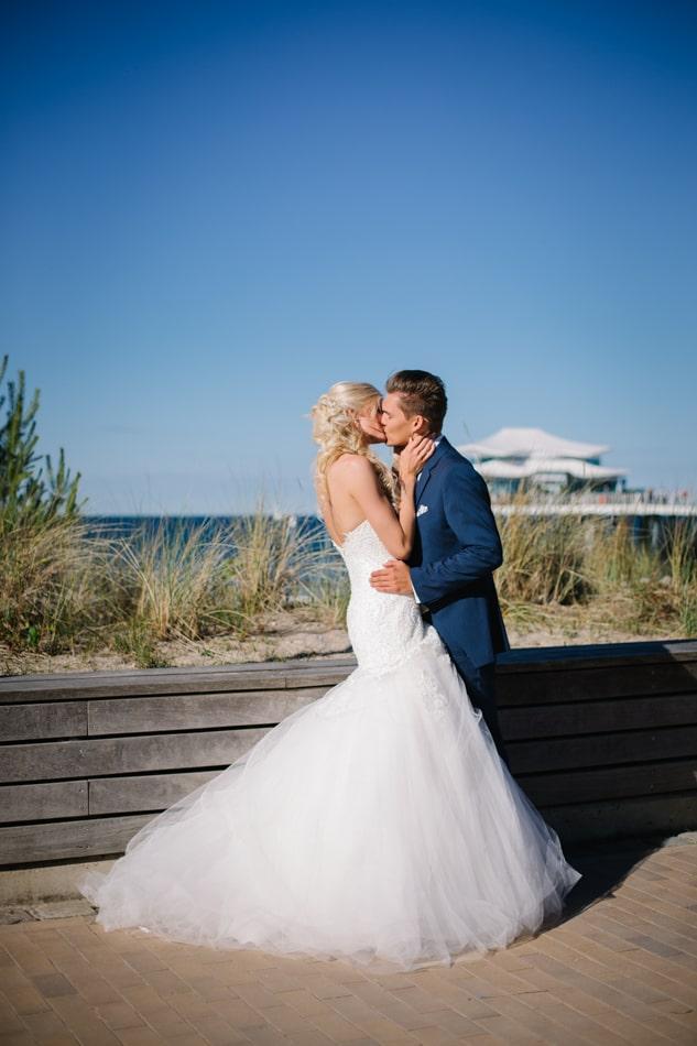 Elegante Hochzeitsbilder im Wolkenlos am Timmendorfer Strand in Lübeck