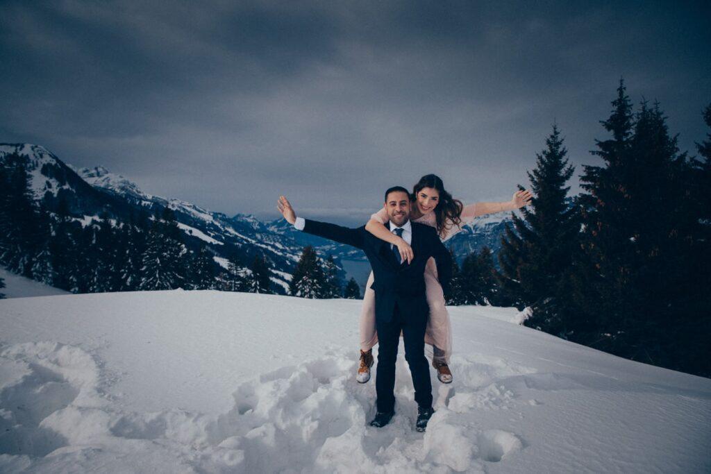 Fotoshooting in den Bergen