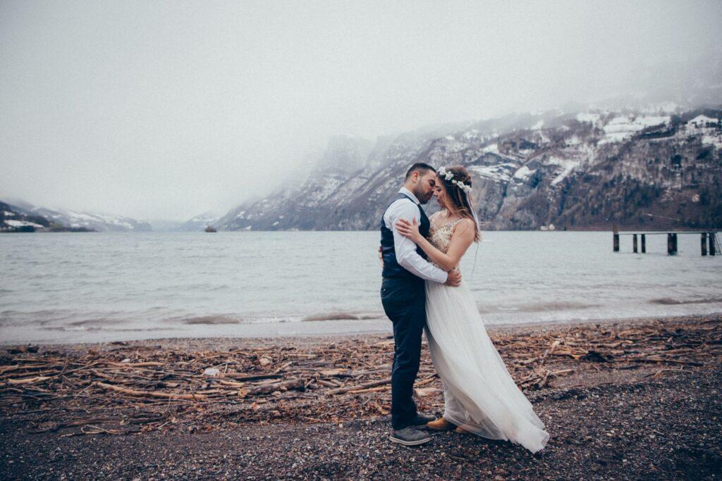 Hochzeit in den Alpen in der Schweiz