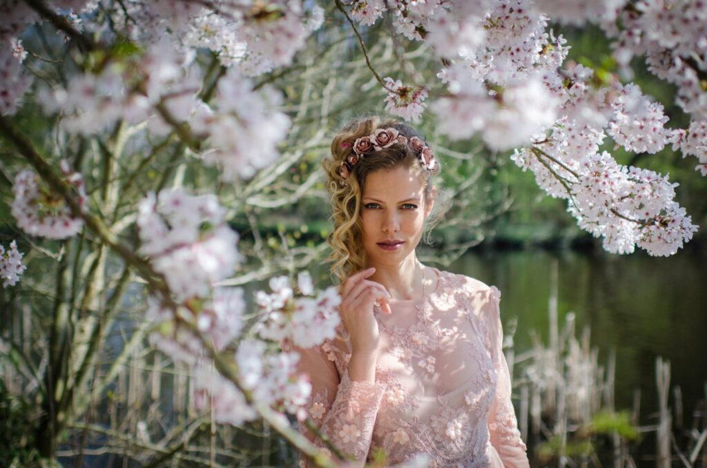 Hochzeitsfotos mit Blumen