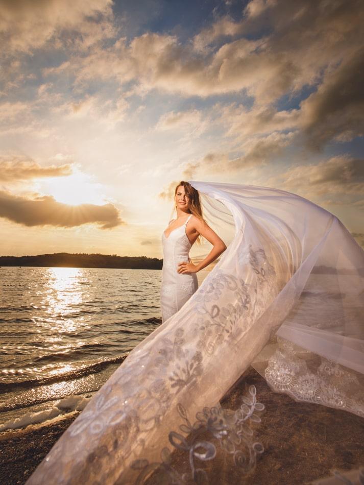 Hochzeitsfotoshooting am Einfelder See in Neumünster