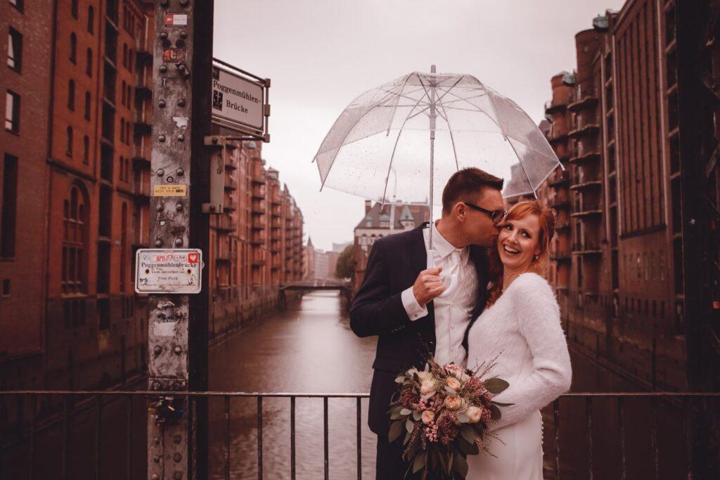 Hochzeitsfotoshooting in Speicherstadt, Hamburg