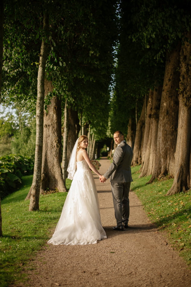 Hochzeitskleid Schloss Glücksburg