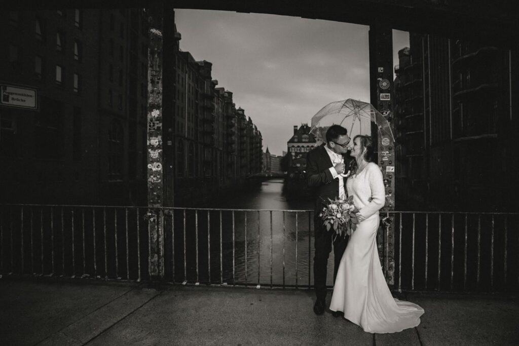 Hochzeitsreportage in Speicherstadt, Hamburg