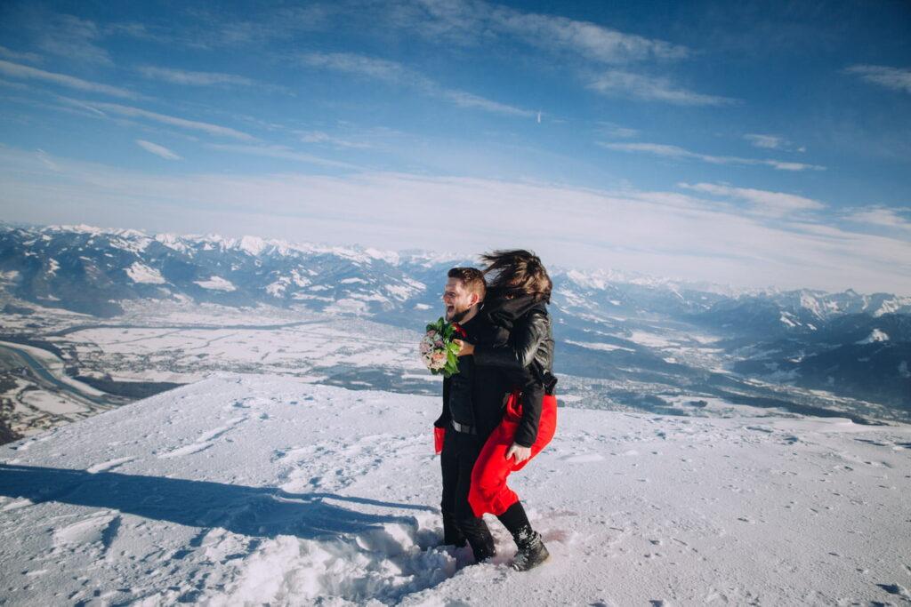 Paarshooting in den Schweizer Bergen
