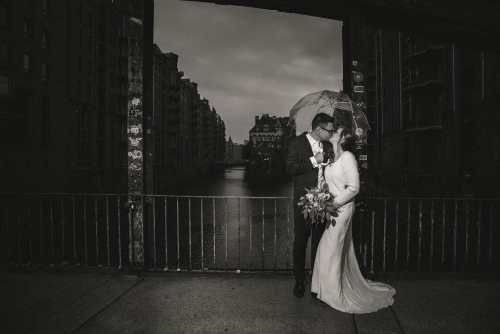 Poggenmühlen-Brücke Hochzeitsreportage