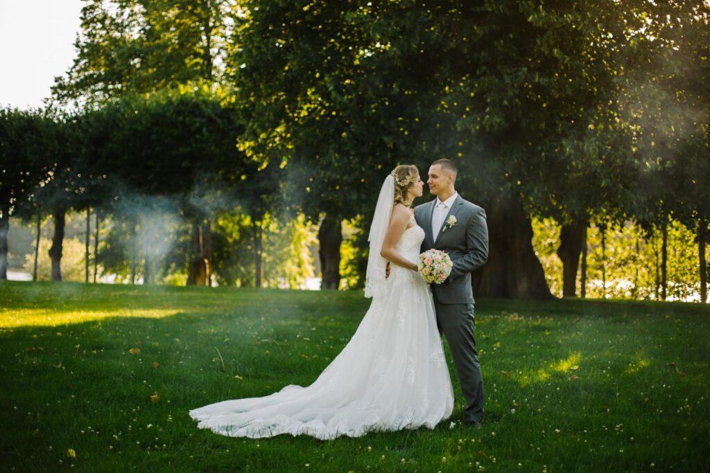 Romantische Hochzeitfotos Schloss Glücksburg