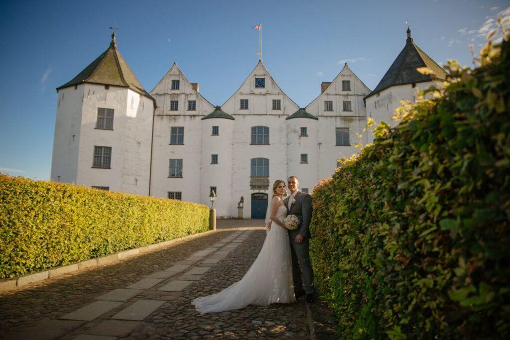 Romantische Hochzeitsfotografie Schloss Glücksburg