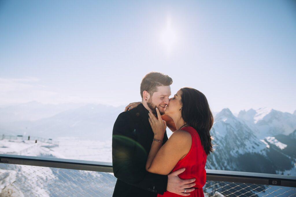 Romantische Hochzeitsfotografie in St Gallen