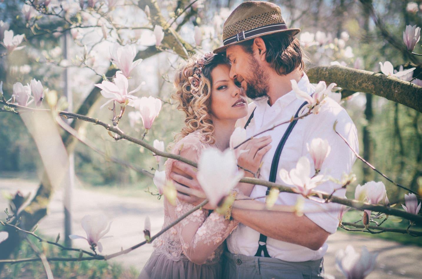 Romantische Boho Hochzeitsfotoshooting in Lübeck