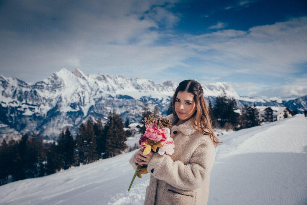 Shooting in den Schweizer Alpen