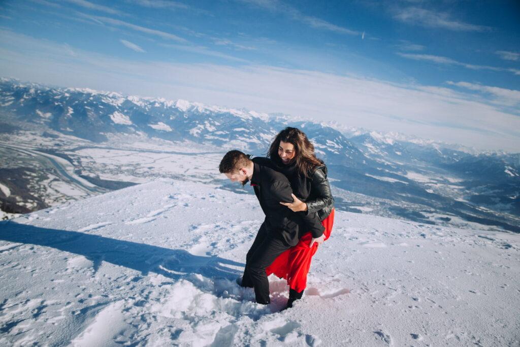 Verlobungs Fotoshooting in der Schweiz