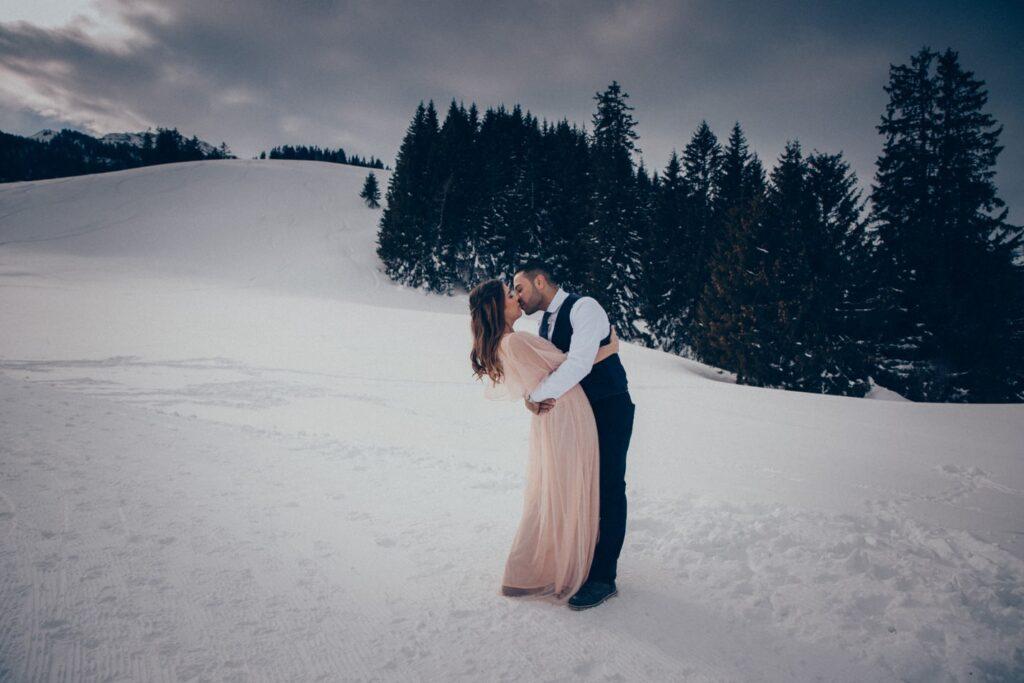 Winter Hochzeitsshooting in der Schweiz