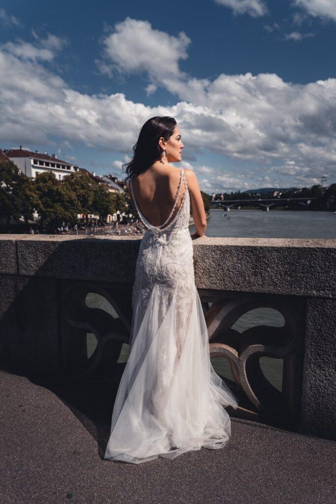 Braut in Basel, Schweiz