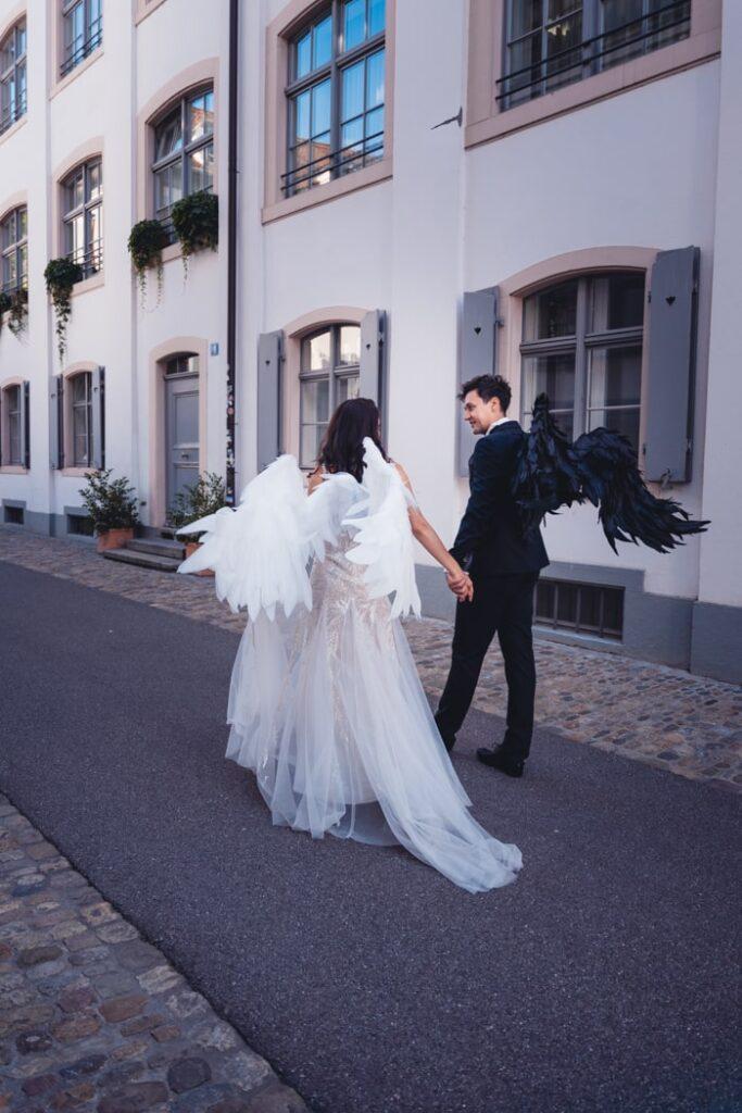Hochzeitsfotoshooting in Basel, Schweiz